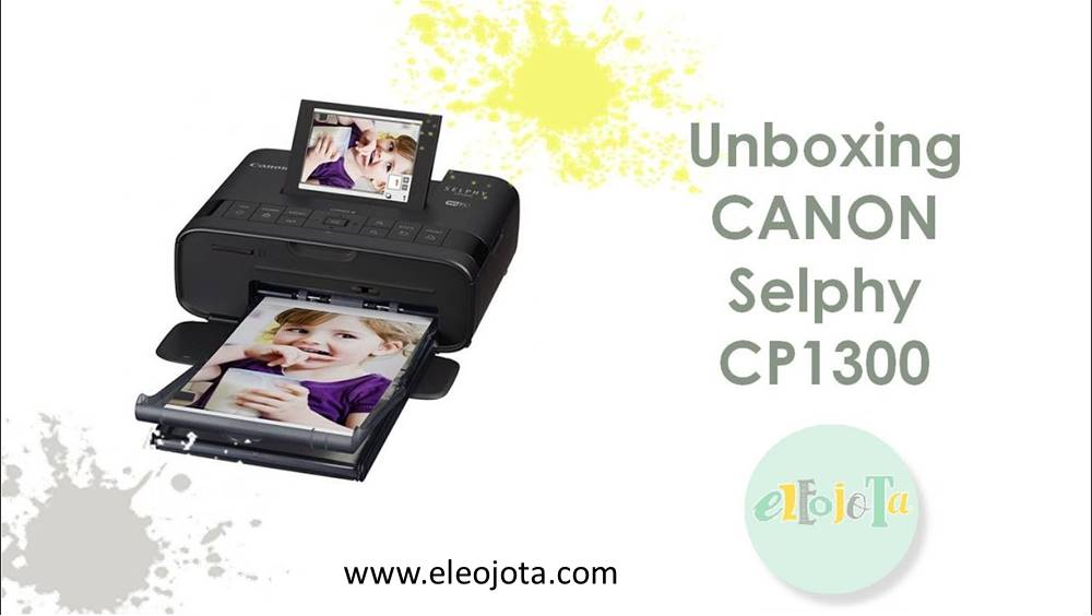 unboxing canon selphy cp1300